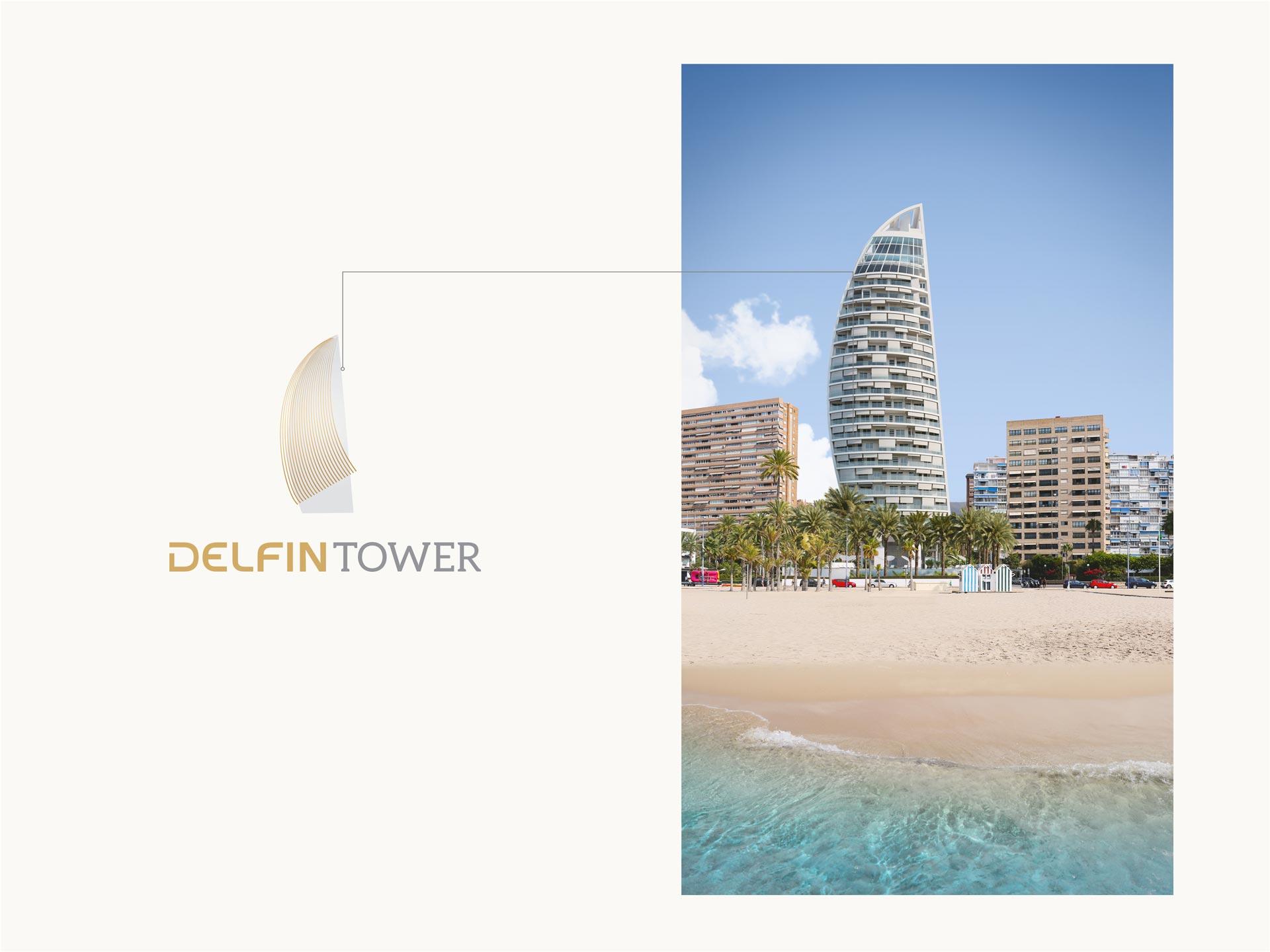 giset design delfin tower construccion del logo