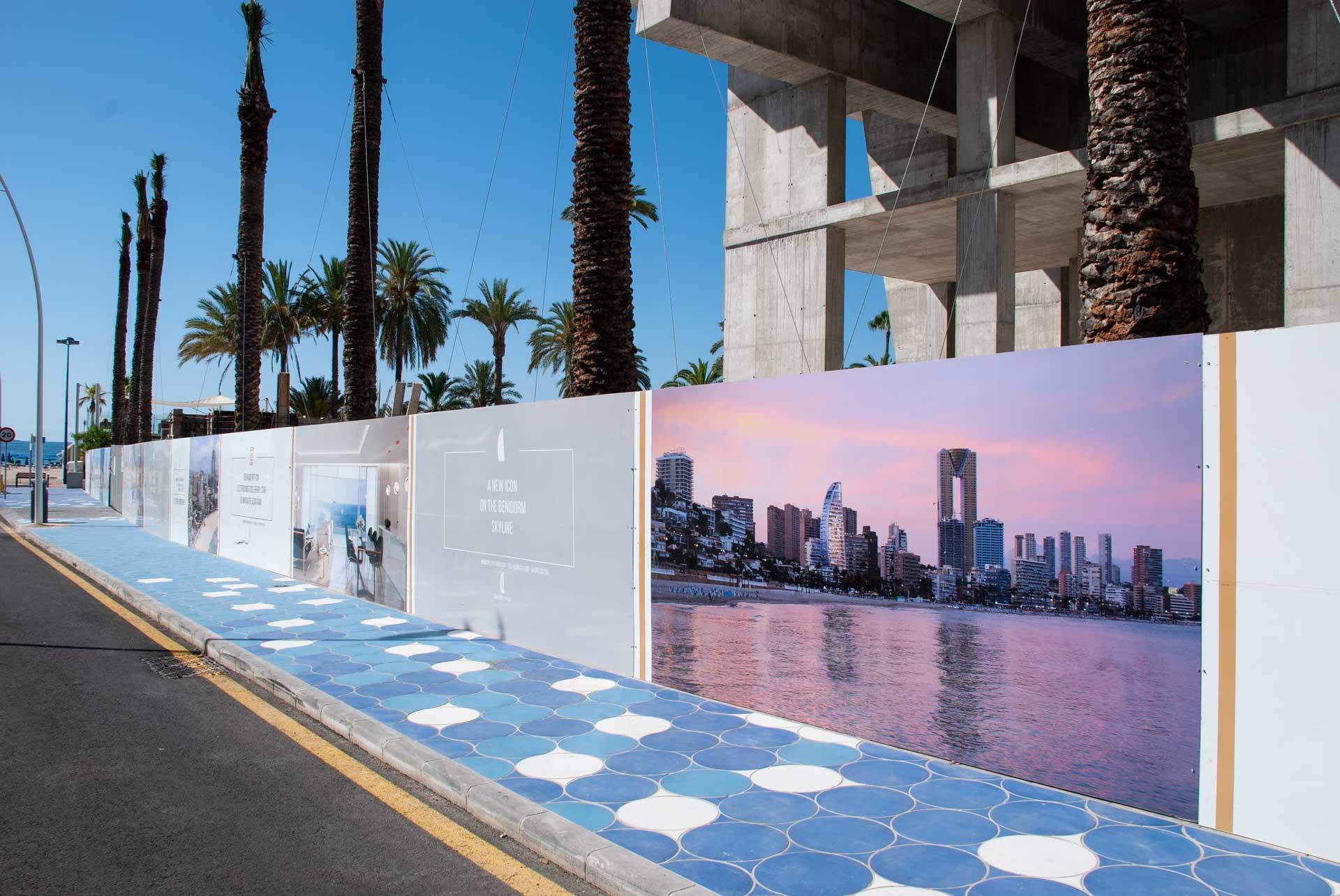 giset design delfin tower exteriores valla