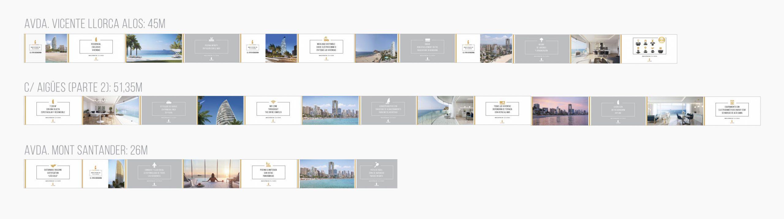 giset design delfin tower exteriores valla presentación