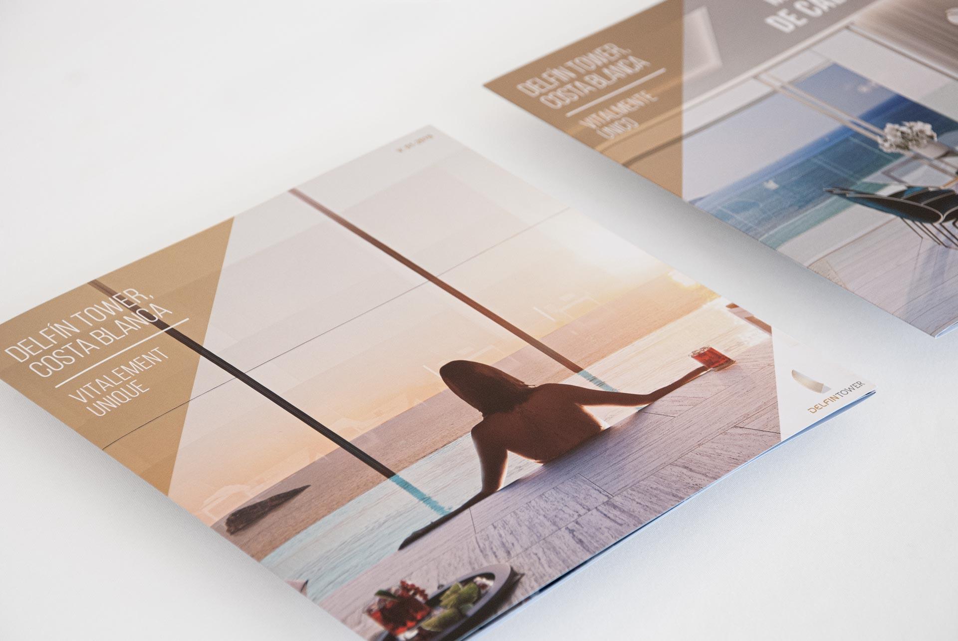 giset design delfin tower identidad corporativa flyer