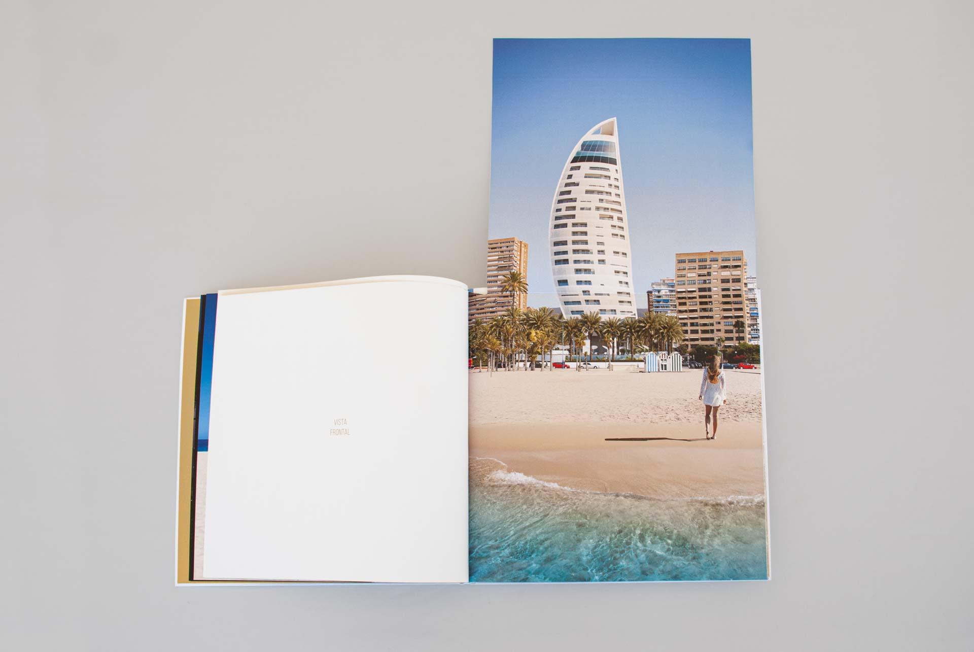 giset design delfin tower identidad corporativa libro con displegables
