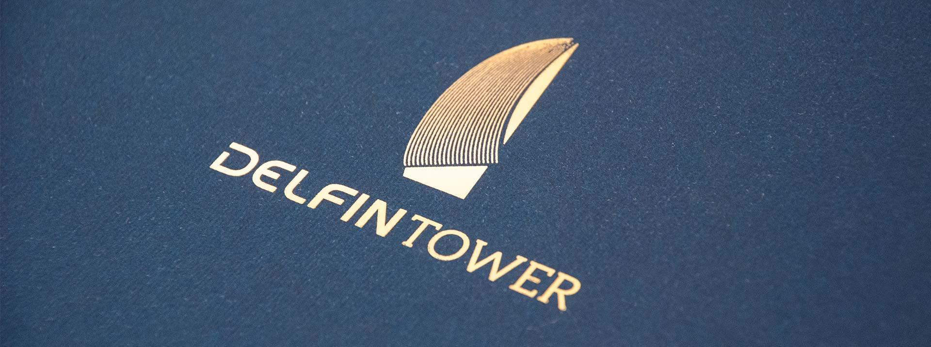 giset design delfin tower logo stamping oro
