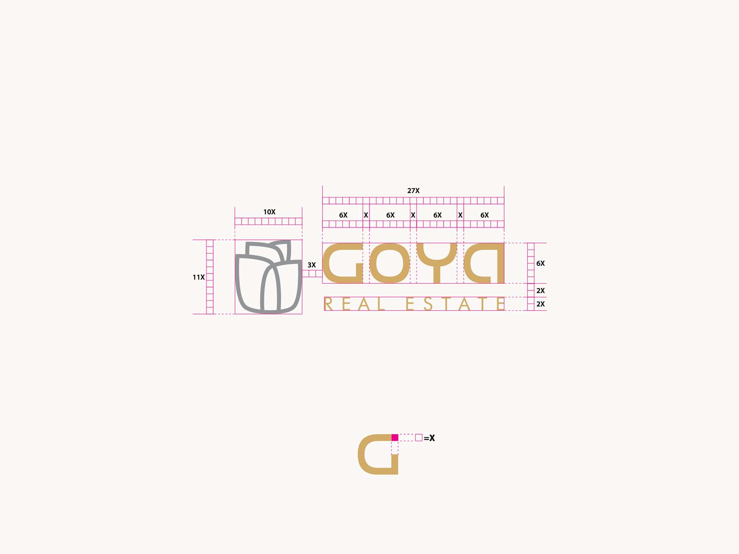 giset design goya real estate creacion del logo