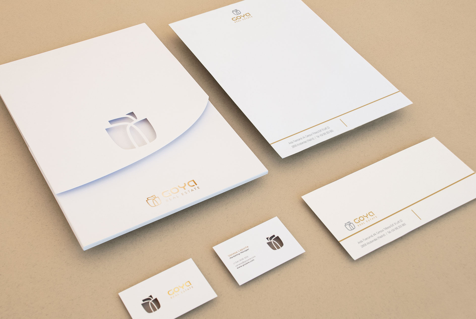 proyecto giset design goya real estate logo y identidad corporativa